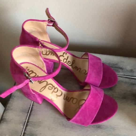 4bf3b4f7f1bca Hot pink Sam Edelman block heel. M 5b15d36003087c6dc1730f34